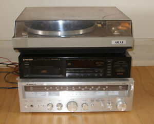 complete vintage stereo system & record player