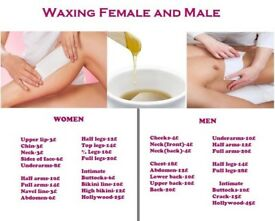 FEMALE & MALE: Waxing,Trimming,Shaving