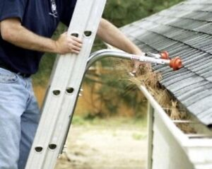 $35 Eavestrough cleaning  and grass cutting