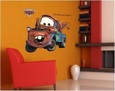 Disney Cartoon Giant MATER Cars HUGE Tow Truck Wall Stickers Kids Home Decor USA