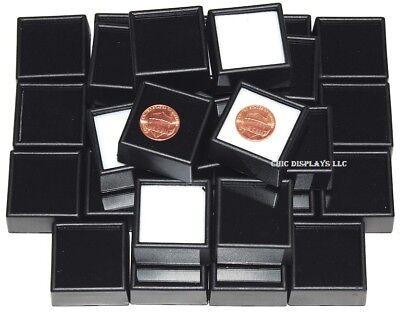 Glass Top Gemstone Jars Gem Jars Jewelry Gemstone Displays Black Gem Boxes 50-pc