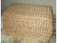 WICKER CHEST, AS NEW