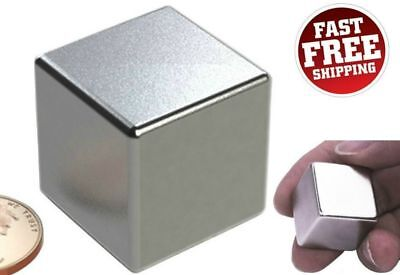 Neodymium Magnet Super Strong Rare Earth N52 Cube Block Powerful Magnets 1 Inch
