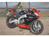 aprilia rs4 125 2012 black/red lots of extras