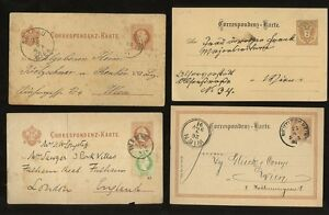 AUSTRIA-1876-1919-STATIONERY-COLLECTION-USED-11-CARDS