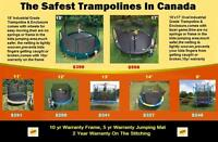Great Deals on Trampolines !!! Kids Safe, Best Quality, Warranty