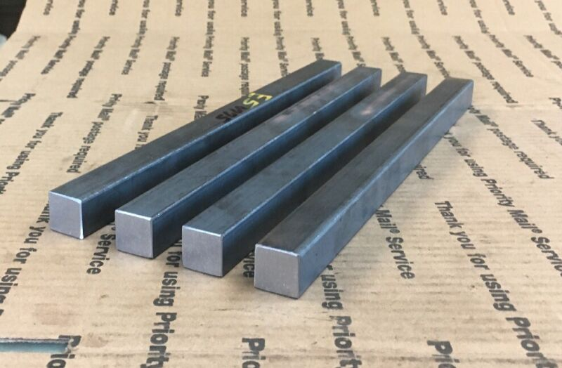 "3/4 Square Steel Bar Blacksmithing Welding Arts 4pcs 12"" Long"