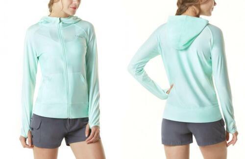 TSLA Women's UPF 50+ Full & Half X-Small, Sun Block Zip Hood