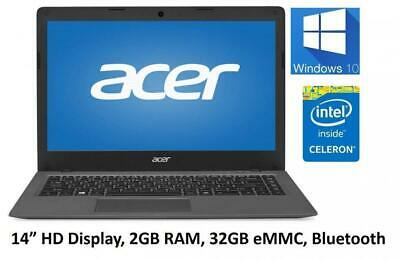 "Acer Aspire One Cloudbook 14"" LED Display Intel dual core 32GB SSD Windows 10"