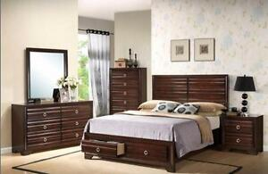 New!!! 60% OFF!!! 8PC Melissa Queen Bedroom Set only $1349+HST.  Set includes Queen Headboard, Footboard, Railings, Dres