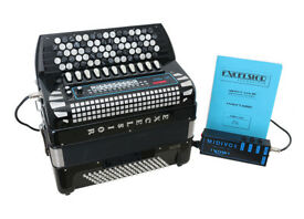 EXCELSIOR 606 MIDIVOX 3 96 Bass Chromatic Button Accordion