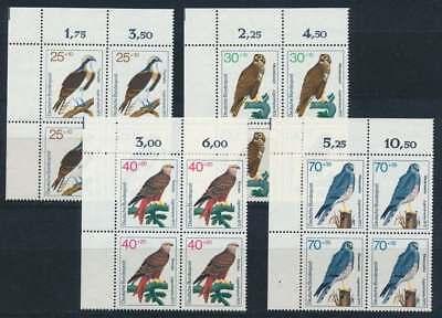 Bund Nr. 754-757 postfrisch / **, Eckrand Viererblock Ecke 1 (35211)