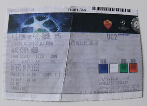 Ticket for collectors CL AS Roma - FC Basel 2010 Italy Switzerland - <span itemprop='availableAtOrFrom'>Internet, Polska</span> - Ticket for collectors CL AS Roma - FC Basel 2010 Italy Switzerland - Internet, Polska