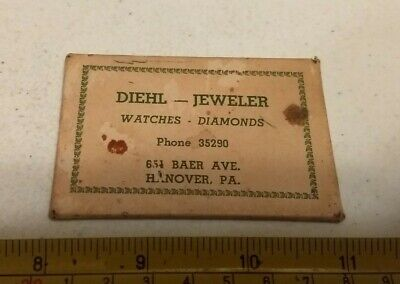 Vintage Diehl Jeweler Diamonds Watches Hanover PA Advertising Pocket Mirror