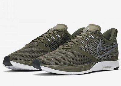Nike Zoom Strike Aj0189 300 New Mens Green Black Running Training Shoes