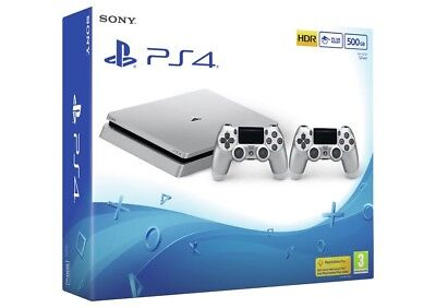 Sony PlayStation PS4 500GB Console With 2 Controllers - Silver - From Argos