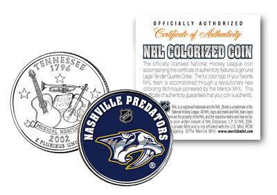 NASHVILLE PREDATORS NHL Hockey Tennessee Statehood Quarter US Coin * LICENSED *