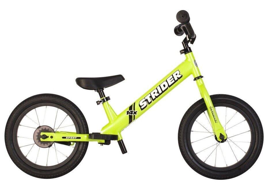 STRIDER 14x Sport 2 in 1 Balance Bike w Pedal Kit Kids Learn