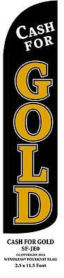 Cash For Gold Windless Swooper Feather Banner Flag Sign