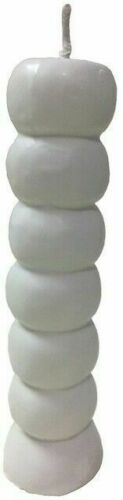 White Seven Knob candle Candle Wholesale Wiccan Witchcraft Supply Store