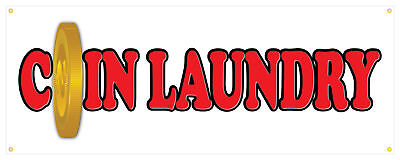 36 Coin Laundry Sticker Laundromat Retail Store Outdoor Decal Sign