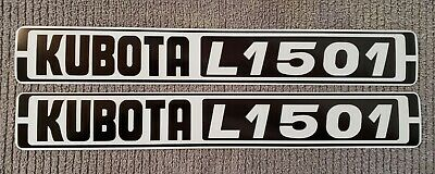 Kubota L1501 Reproduction Hood Decal Set