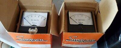 2 Simpson Model 1227 0-25 0-15 Dc Amps 2 12 Analog Panel Meter - 2500 2510