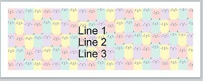 Personalized Address Labels Cartoon Cats Background Buy 3 Get 1 Free P 694