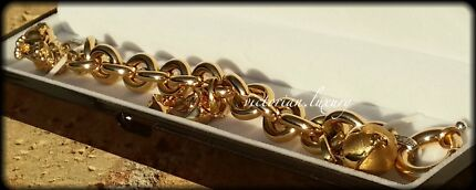 MASSIVE! 18ct SOLID Gold Italian Designer DIAMOND Charm Bracelet West Hoxton Liverpool Area Preview
