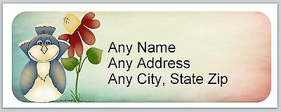 30 Personalized Address Labels Primitive Country Penquin Buy3 Get1 Free Ac 646