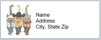 Personalized Address Labels Country Cowboy Cats Buy 3 Get 1 Free Bx 513