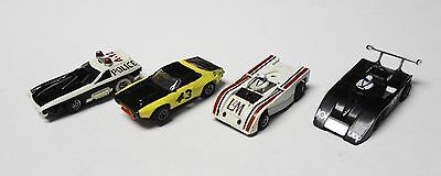 Aurora AFX Ho slot car Lot of 4 cars with chassis