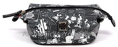 Disney Dooney & Bourke Mickey Minnie Negative Comic Strip Cosmetic Pouch Bag #8