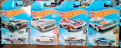 Hot Wheels Chevy Treasure Hunt+ Zamac+Red Edition Lot Of 4  67 Camaro, Stingray.