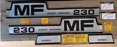 Massey Ferguson 230 Complete Decal Set