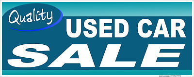 12 Used Car Sale Sticker Retail Auto Dealer Business Store Outdoor Sign