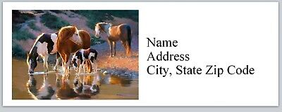 Personalized Address Labels Western Paint Horses Buy 3 Get 1 Free Bx 626