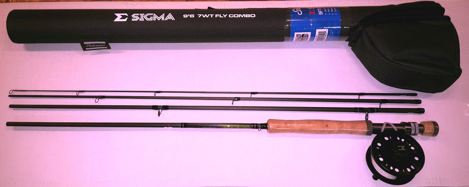Shakespeare sigma fly fishing combo rod reel line backing for Fly fishing backing