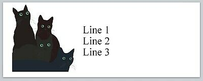 Personalized Address Labels Black Cats Buy 3 Get 1 Free Jx 215