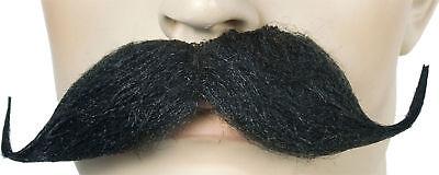 Morris Costumes Men's Must Handle Bar Black Big Thick & Bold Mustache. LW422BK