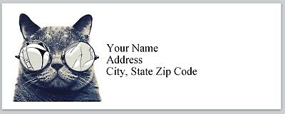 Personalized Address Labels Cool Cat Buy 3 Get 1 Free Bx 217