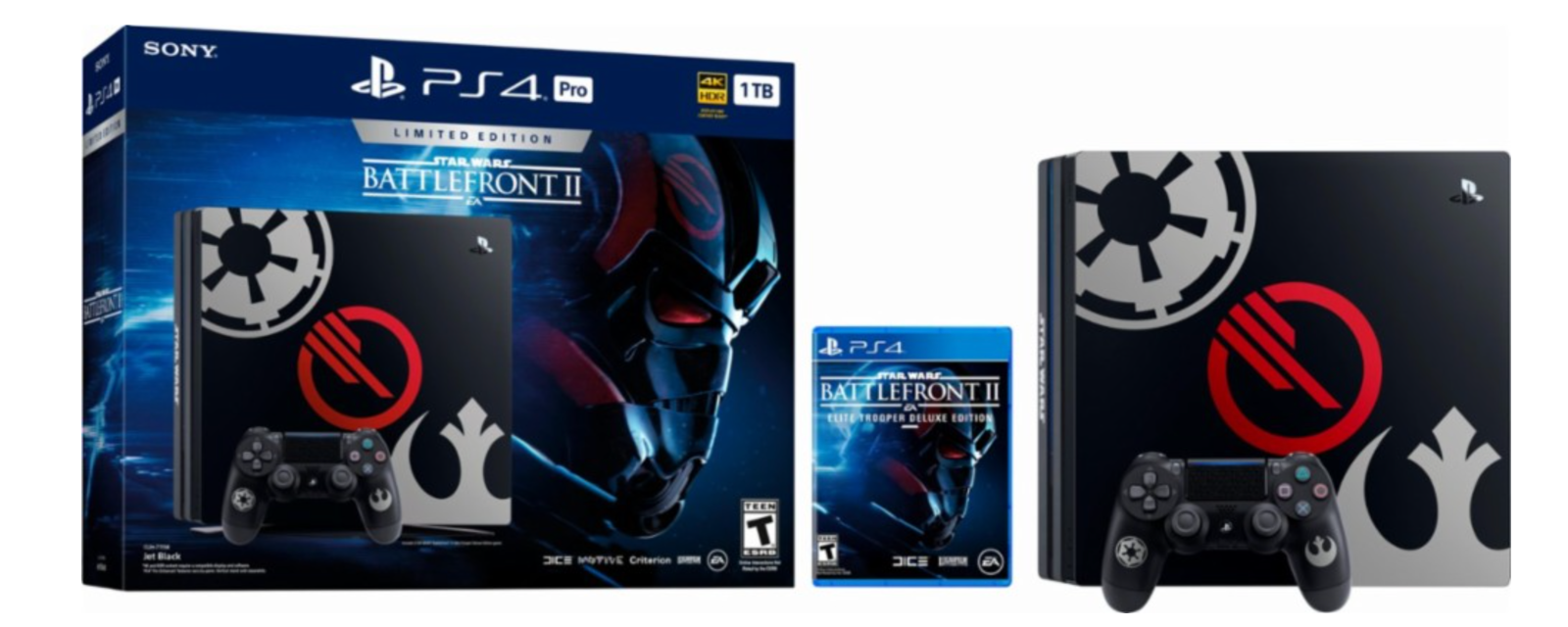 Playstation 4 - NEW Sony PlayStation 4 Pro PS4 Pro STAR WARS: Battlefront II Limited Edition 1TB
