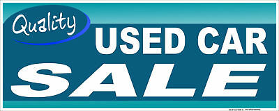 Used Car Sale Banner Retail 18x48 Auto Dealer Business Store Outdoor Sign