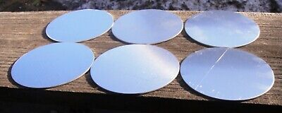 Lot Of Six 5052 Aluminum Round Discs 4 14 Inch In Diameter 116 Inch Thick