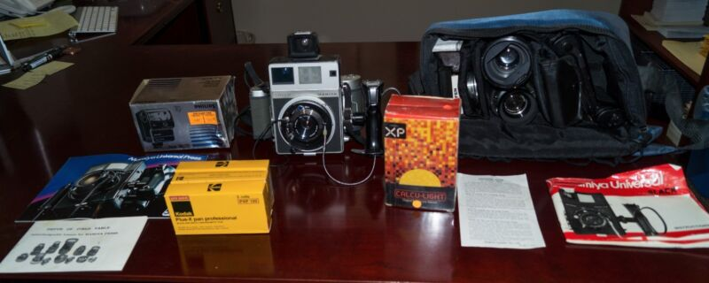 Mamiya Super 23 Camera with Three Lenses and Accessories