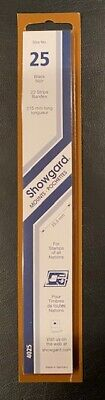 Showgard Stamp Mounts size 25 - FREE USA SHIPPING - 215 mm by 25  mm 22 strips