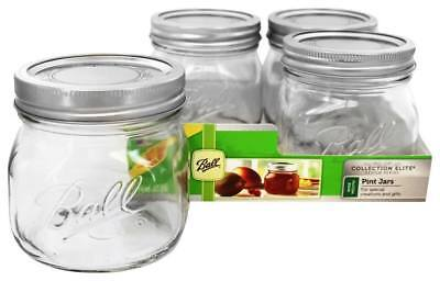 Ball - Wide Mouth 16 oz. Pint Mason Jars Elite Collection Design Series - 4