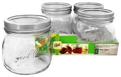 Ball - Wide Mouth 16 oz. Pint Mason Jars Elite Collection Design Series - 4