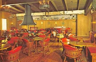 Potomac Maryland Cafe Fleur De Lis Interior Vintage Postcard K86797