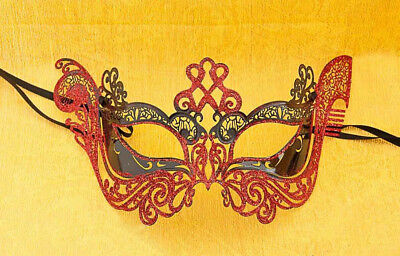 Mask Lace - Metal of Venice Gondola Glossy Red Fancy 717